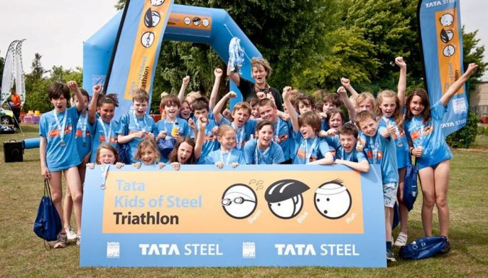 TATA Kids of steel triathlon event