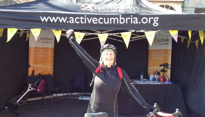 Sharon who took part in the first ever Barrow SkyRide
