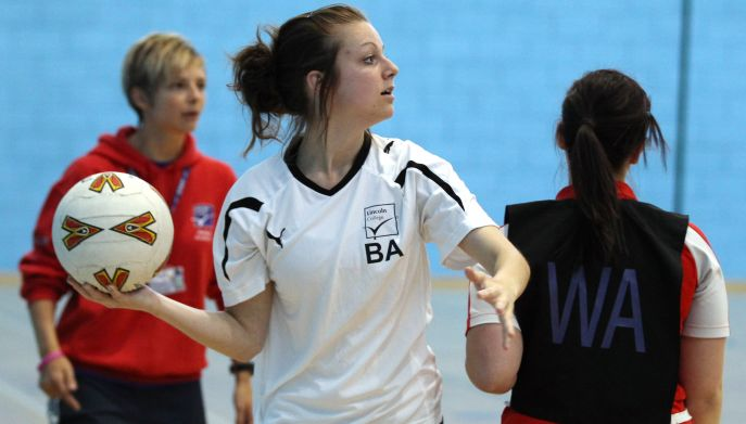 netball action image