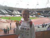 Natasha wilson with her school games winners medal
