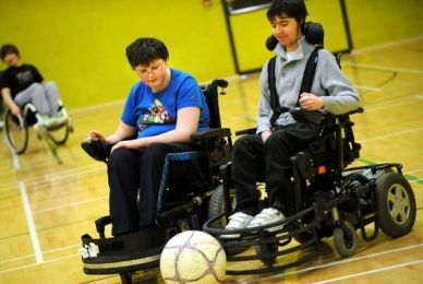 power wheelchair football