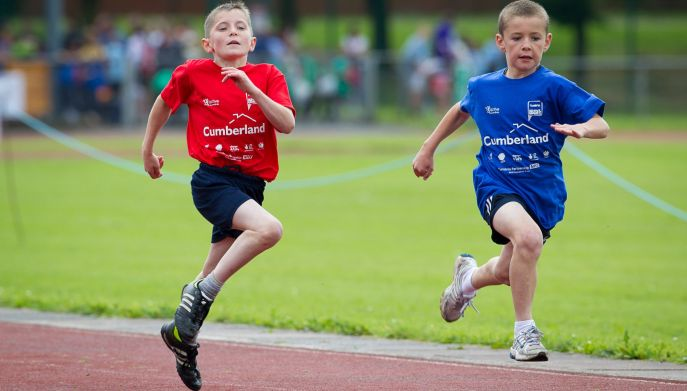 Cumbria School Games Runners