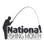National Fishing Month logo
