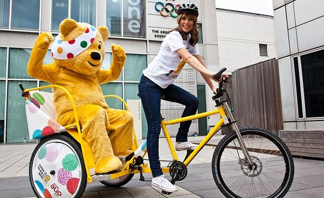 Alex Jones Warms up for The One Show's Rickshaw Challenge