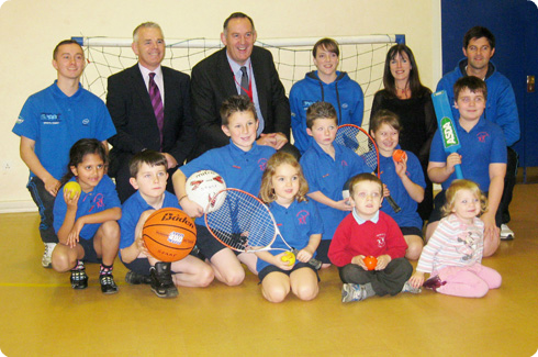 Fred Story meets Carlisle School Children