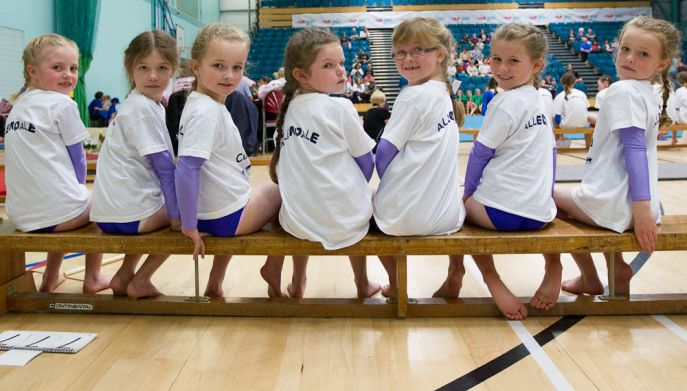Junior girl Gymnasts